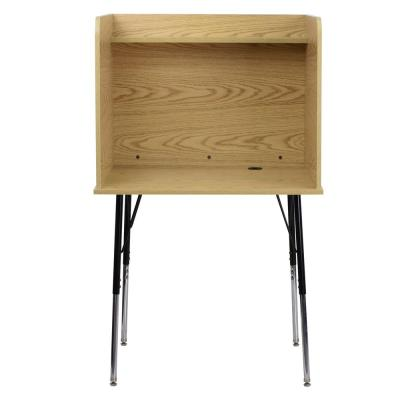 35.8 in. Rectangular Oak Standing Desks with Adjustable Height