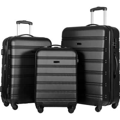 3-Piece Luggage Set Hardside Spinner Suitcase with TSA Lock 20 in. x 24 ft. 28 in. Available
