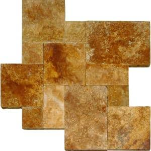 Riviera Tumbled Travertine Paver-Kits (30 Kits/480 sq. ft./Pallet)