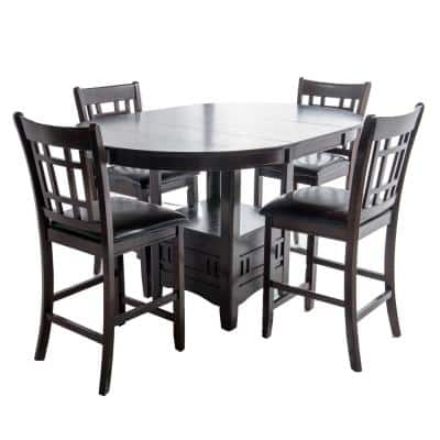 Home Source Jacksonville Espresso Counter Height Table