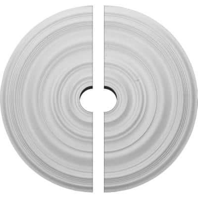 29-1/8 in. x 4 in. x 1-1/2 in. Carton Smooth Urethane Ceiling Medallion, 2-Piece (Fits Canopies up to 9-1/8 in.)