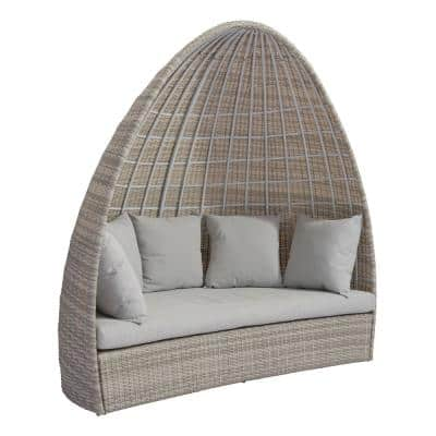 Valencia Aluminum Outdoor Daybed with White Cushions