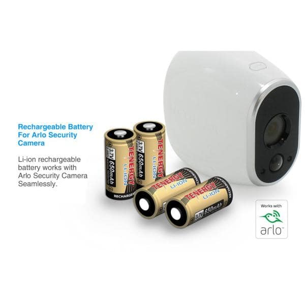 Arlo Certified Rechargeable Batteries For Arlo Wireless Security Camera 4 Pack 34153 The Home Depot