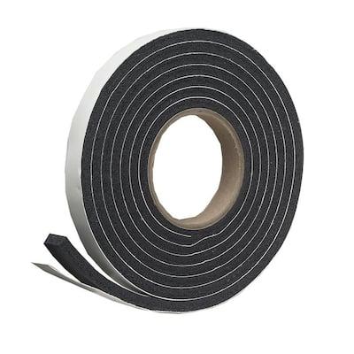 3/4 in. x 7/16 in. x 10 ft. Black High-Density Rubber Foam Weatherstrip Tape