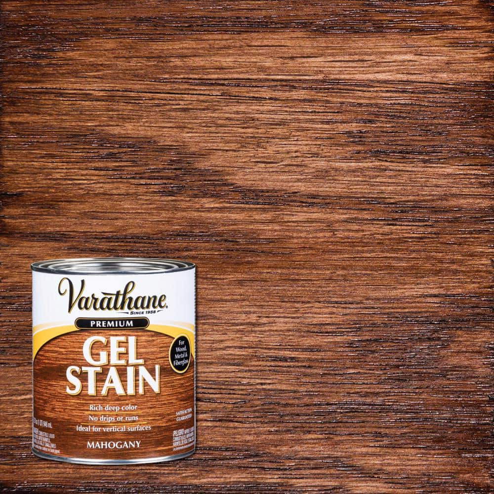 Varathane 1 Qt Mahogany Wood Interior Gel Stain 339585 The Home Depot