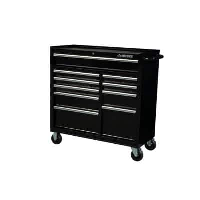 41 in. 10-Drawer Roller Cabinet Tool Chest in Black