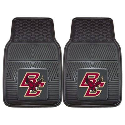 NCAA Boston College Heavy Duty 2-Piece 18 in. x 27 in. Vinyl Car Mat
