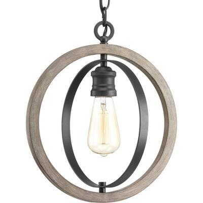 Conestee Collection 1-Light Graphite Pendant