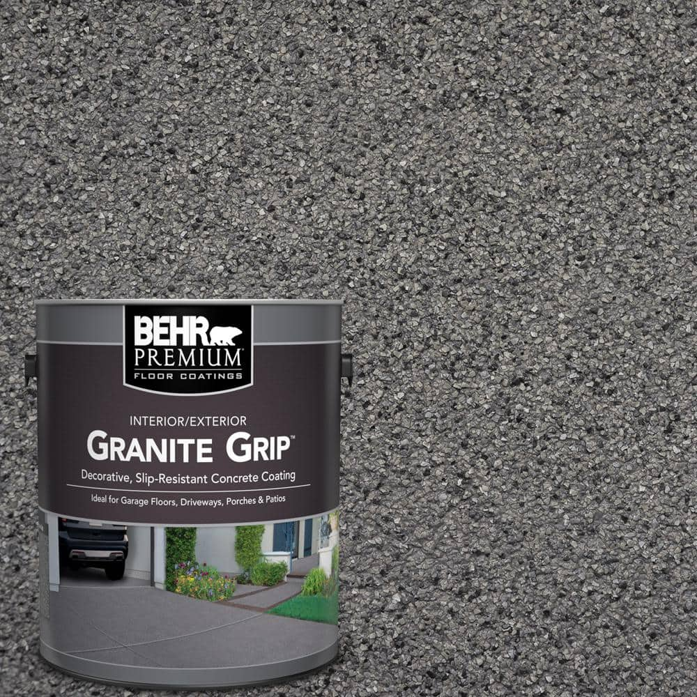 1 Gal. Gray Granite Grip Decorative Flat Interior/Exterior Concrete Floor Coating