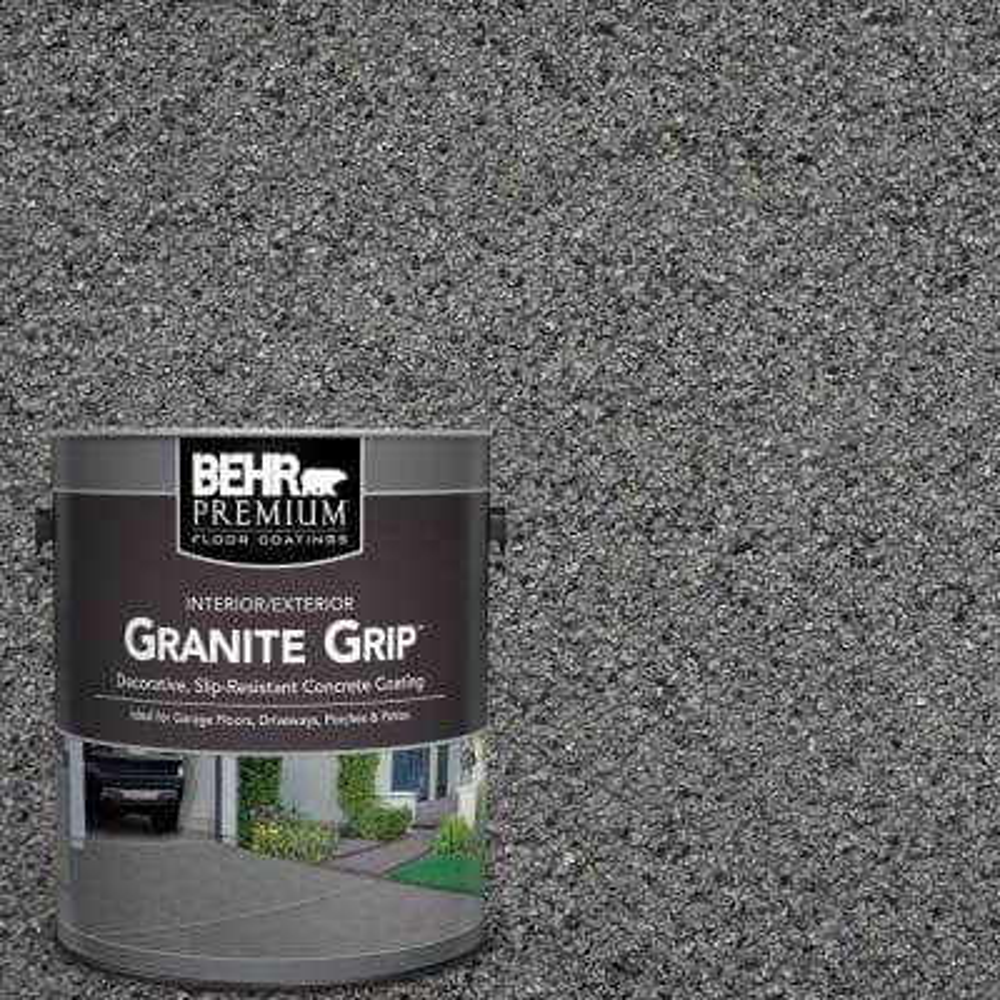 1 Gal. Gray Granite Grip Decorative Flat Interior/Exterior Concrete Floor Coating