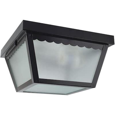 2-Light Black Outdoor Builder Light