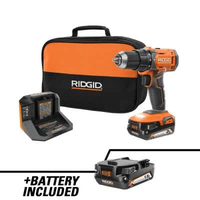 18V Cordless 1/2 in. Drill/Driver Kit with (1) 2.0 Ah Battery, Charger, and (1) 1.5 Ah Battery