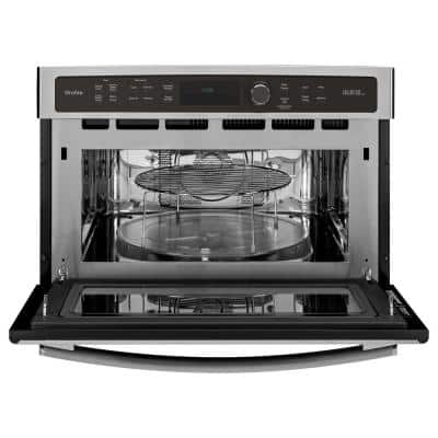 Profile 27 in. Single Electric Wall Oven with Advantium Cooking in Stainless Steel