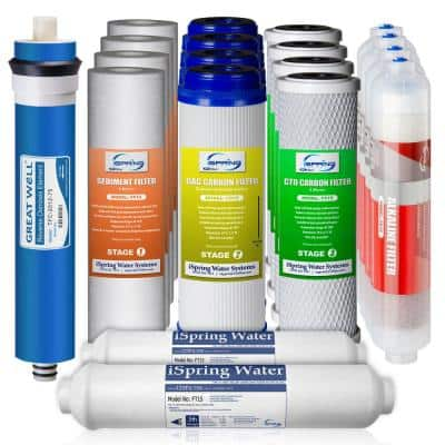 2-Year Filter Replacement Supply Set For 6-Stage Reverse Osmosis RO Water Filtration Systems w/ Alkaline Mineral Filter
