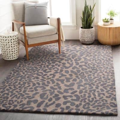 Bicauri Gray 2 ft. x 4 ft. Hearth Indoor Area Rug