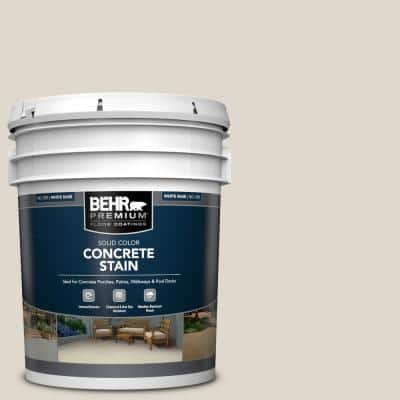 5 gal. #PFC-72 White Cloud Solid Color Flat Interior/Exterior Concrete Stain