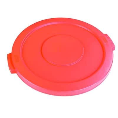 Bronco 44 Gal. Orange Round Trash Can Lid (3-Pack)