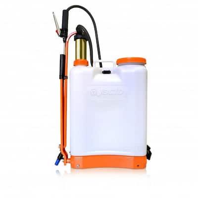 4 Gal. Lightweight Durable Hard Plastic Chemical Backpack Sprayer