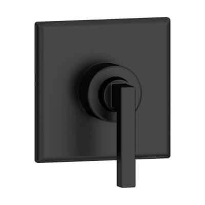Duro 1-Handle Wall-Mounted Diverter Trim Kit in Matte Black (Valve not Included)