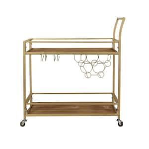 Francesca Gold Bar Cart