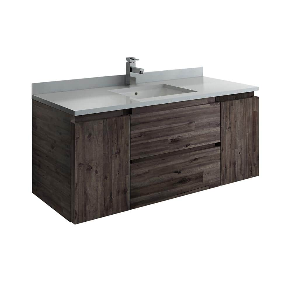 Fresca Formosa 47 In W Modern Wall Hung Vanity Cabinet Only In Warm Gray Fcb31 122412aca The Home Depot