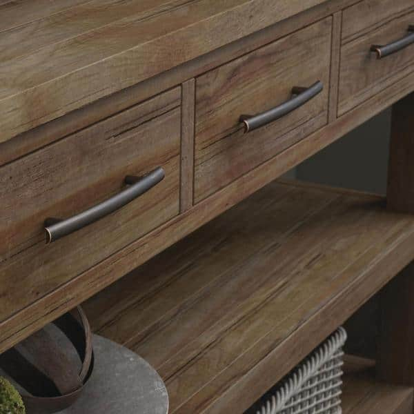 Liberty Arched 5 1 16 In 128mm Center To Center Bronze With Copper Highlights Drawer Pull 143612 The Home Depot