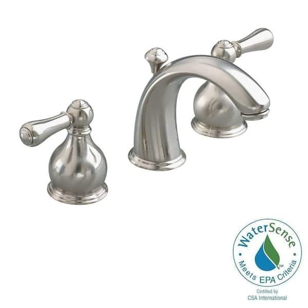 https www homedepot com p american standard williamsburg 8 in widespread 2 handle mid arc bathroom faucet in brushed nickel 2908 224 295 100057118