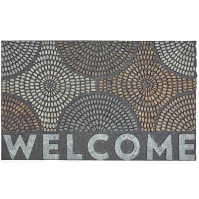 Welcome Radiant Color Burst 18 in. x 30 in. Doorscapes Mat