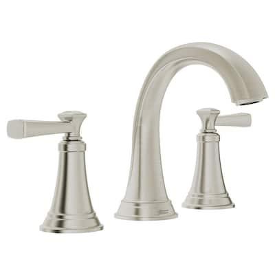 Rumson 8 in. Widespread 2-Handle Bathroom Faucet in Brushed Nickel