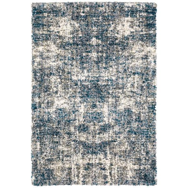 Home Decorators Collection Nordic Blue 5 Ft X 7 Ft Abstract Shag Area Rug 564255 The Home Depot