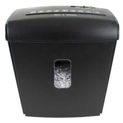 Manual Feed 8 Sheet Crosscut Paper Shredder in Black