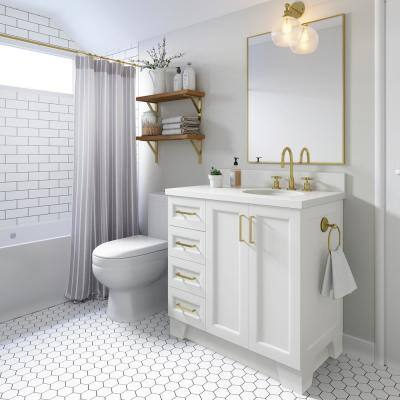 Taylor 37 in. W x 22 in. D Bath Vanity in White with Quartz Vanity Top in White with White Basin