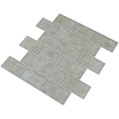 Marble Look Design 12 in. x 12 in. Eva Peel and Stick Tile Subway Self-Adhesive Wall Tile Backsplash (8.4 sq. ft./10)