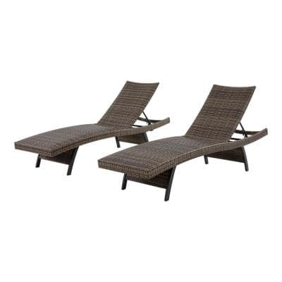 Bayside Commercial Padded Wicker Outdoor Chaise Lounge