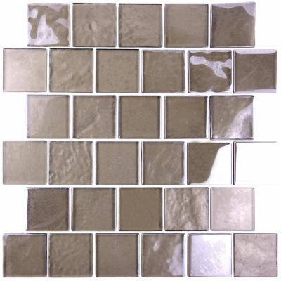 Landscape Grand Canyon Bronze Square Mosaic 2 in. x 2 in. Textured Glass Pool Tile (12.48 Sq. Ft./Case)