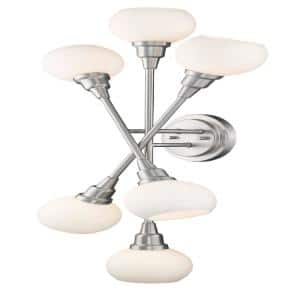 15 in. Brushed Nickel Sconce
