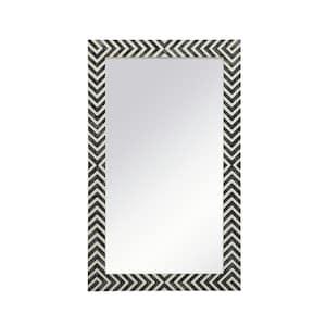Medium Rectangle Chevron Contemporary Mirror (40 in. H x 24 in. W)