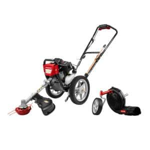43 cc Wheeled String Trimmer Plus Blower Attachment Combo Kit