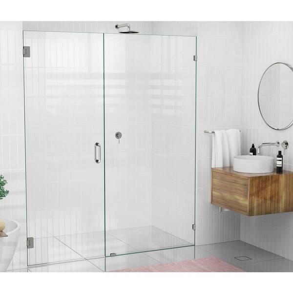 Frameless Wall Hinged Shower Door, Shower Stall Glass Doors Home Depot
