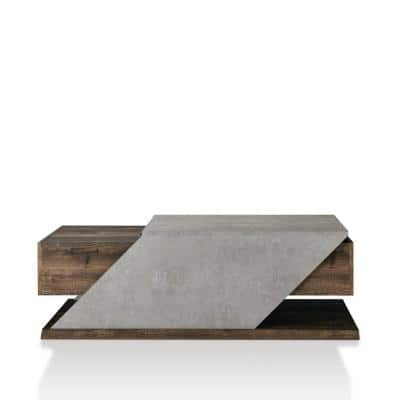 Drury 48 in. Reclaimed Oak Large Rectangle Wood Coffee Table with Lift Top