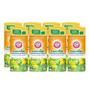 40-Count Lemon Scent Disinfecting Wipes (8-Pack)