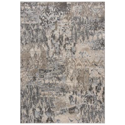 Venice Beige/Brown 5 ft. 3 in. x 7 ft. 6 in. Abstract Area Rug