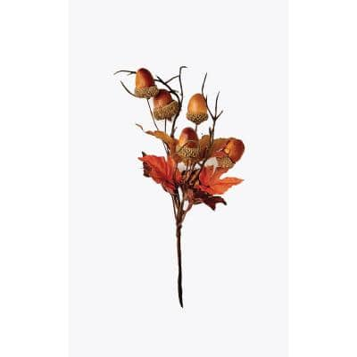 8 in. Fall Maple Leaves and Acorn Pick (Set of 12)