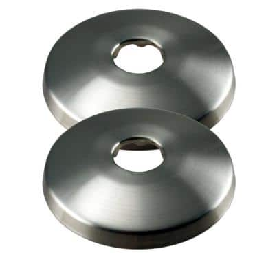 1/2 in. Nominal (5/8 in. O.D.) Copper Shallow Escutcheon Pipe in Satin Nickel (2-Pack)