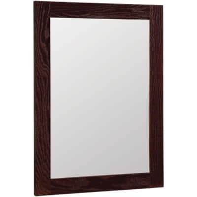 Renditions 18 in. x 24 in. W Framed Vanity Mirror in Java