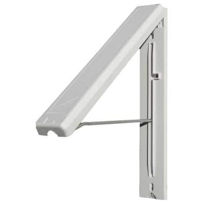 White ABS Plastic Collapsible Wall Mounted Clothes Hanging System