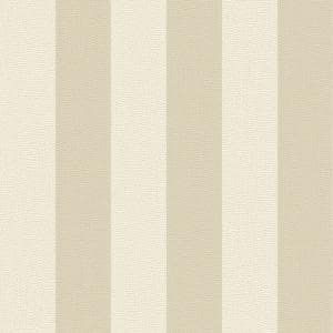 Water Silk Stripe Ivory/Taupe Wallpaper Sample