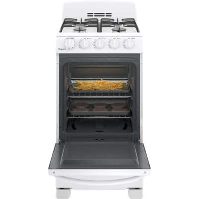 20 in. 2.3 cu. ft. Gas Range Oven in White