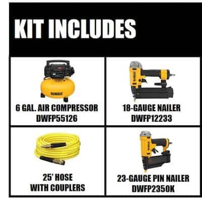 6 Gal. 18-GA Brad Nailer and Heavy-Duty Pancake Electric Air Compressor Combo Kit (1-Tool) with 23-GA 2 in. Pin Nailer