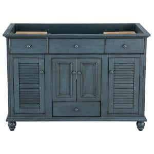 Cottage 48 in. x 21-5/8 in. Vanity Cabinet Only in Harbor Blue